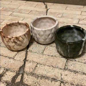 Succulent Pot, Flower Pot, Plant Pot Trio